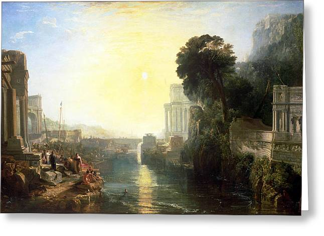 Dido Building Carthage Greeting Card by JMW Turner