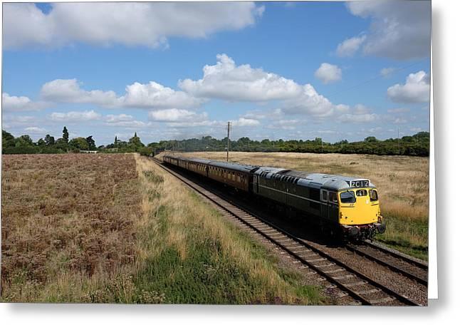 Diesel Train Greeting Card