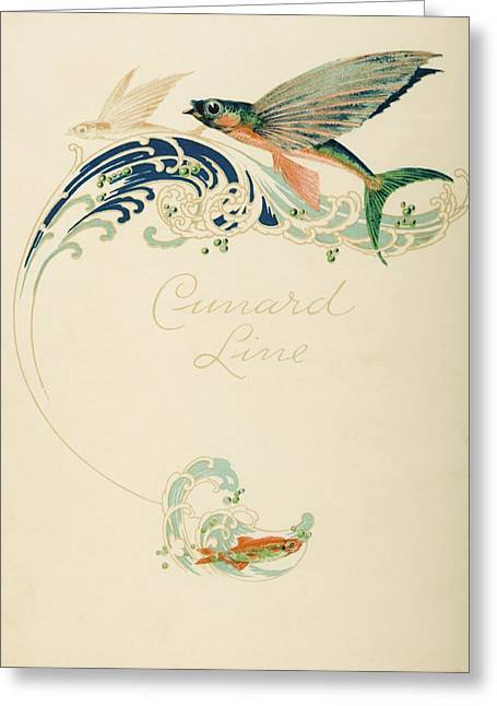 Dinner Menu. Cunard Line. R.m.s Greeting Card