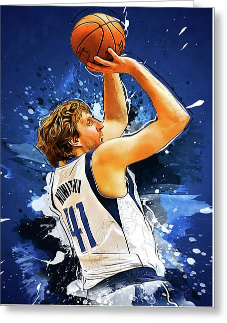 Dirk Nowitzki Greeting Card