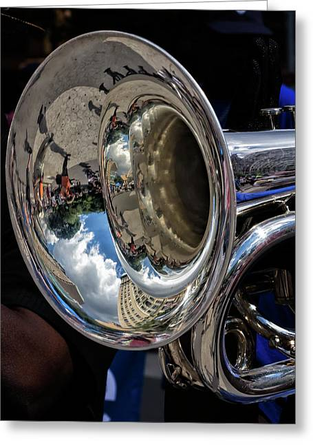 Disability Pride Parade Nyc 2016 Horn Player Greeting Card by Robert Ullmann