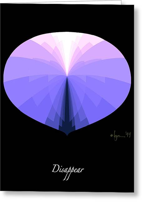 Disappear Greeting Card
