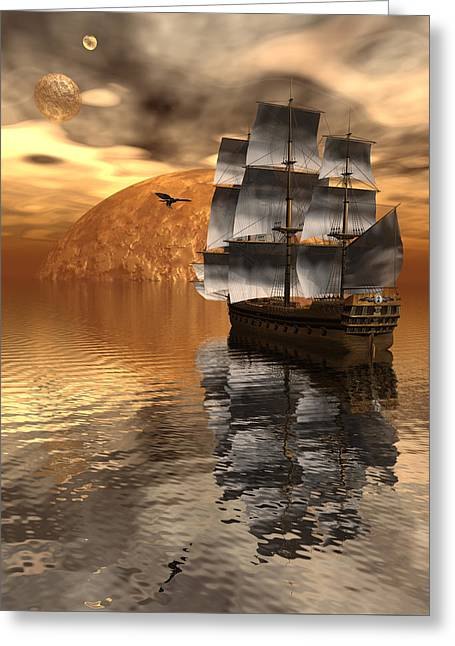 Distant Voyage 2 Greeting Card