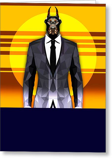 Doberman 6 Greeting Card by Gallini Design