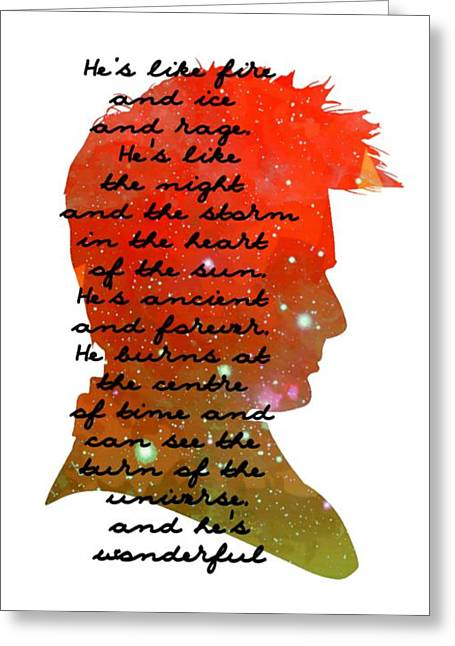 Doctor Who Inspired Tenth Doctor Art  Greeting Card