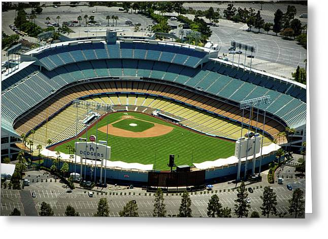 Dodger Stadium Greeting Card by Mountain Dreams