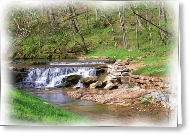 Dogwood Canyon Waterfall 2 Greeting Card