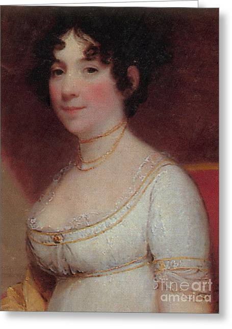 Dolley Madison Greeting Card by Photo Researchers