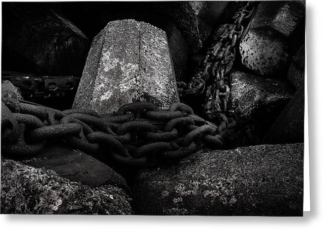 Dolosse And Chains Black And White Greeting Card