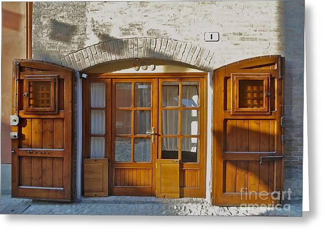 Door In Brisighella, Italy Greeting Card by Italian Art