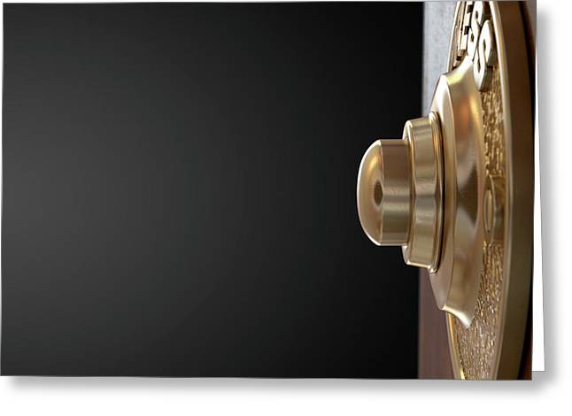 Doorbell Greeting Card by Allan Swart