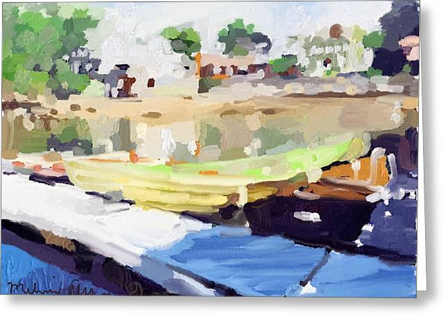 Dories At Beacon Marine Basin Greeting Card by Melissa Abbott