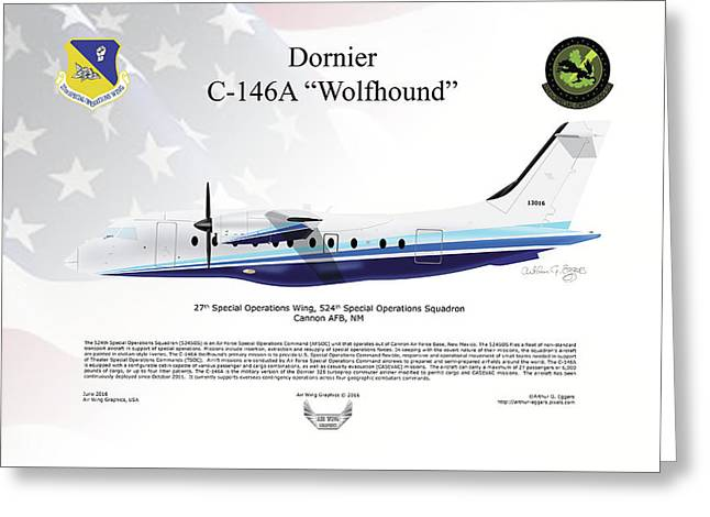 Dornier C-146a Wolfhound Greeting Card