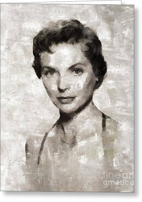 Dorothy Mcguire Vintage Hollywood Actress Greeting Card