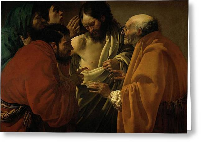 Doubting Thomas Greeting Card