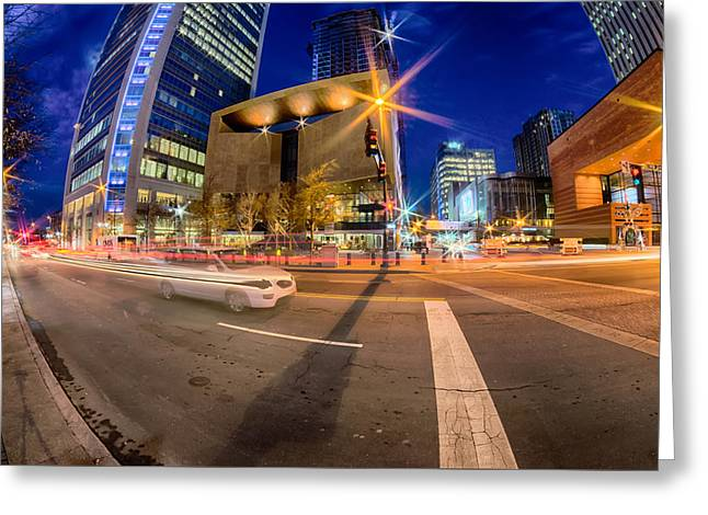 Downtown Of Charlotte North Carolina Greeting Card by Alex Grichenko