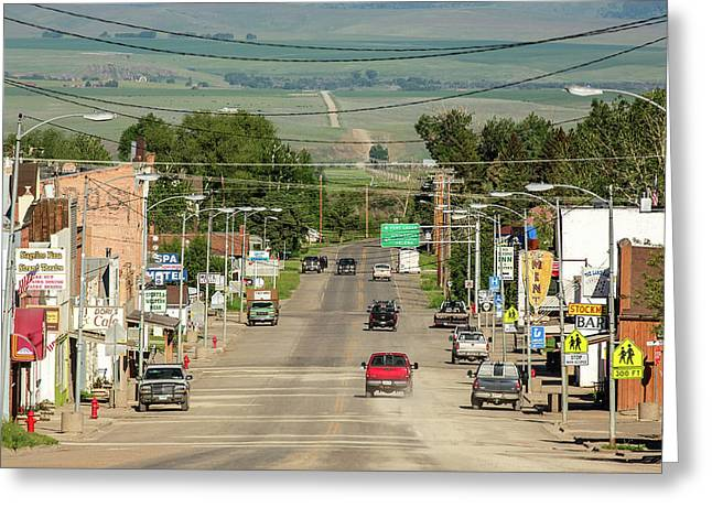 Dusty Mountain Town Greeting Card by Todd Klassy