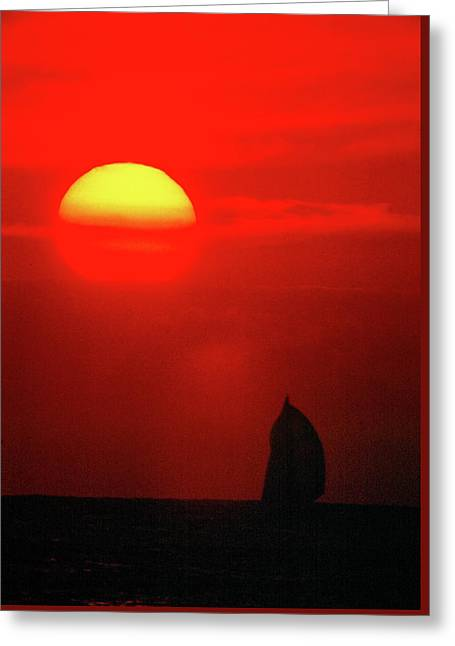 Downwind To Kauai Greeting Card