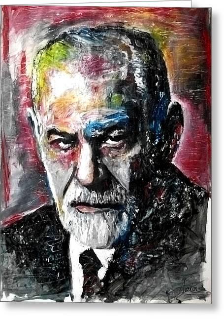 Dr Sigmund Freud Psychoanalist Greeting Card