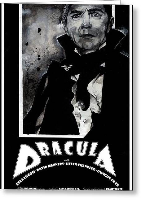 Dracula Movie Poster 1931 Greeting Card by Sean Parnell