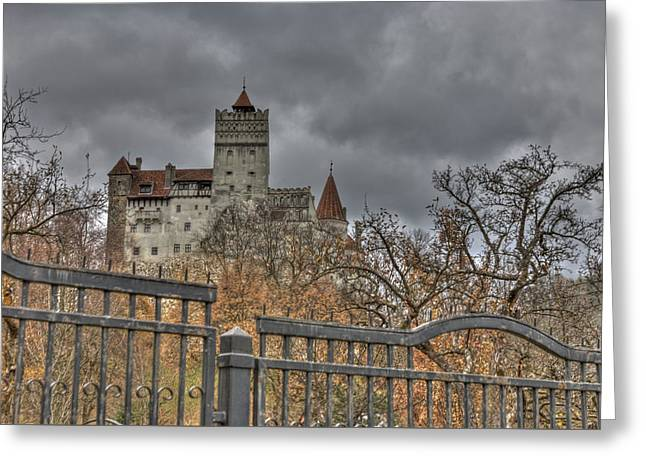Greeting Card featuring the photograph Dracula's Castle Transilvania In Hdr by Matthew Bamberg