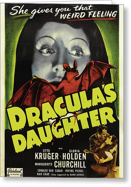Dracula's Daughter 1936 Greeting Card by Mountain Dreams