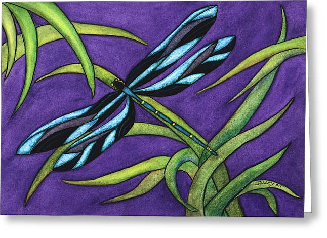 Dragonfly Greeting Card by Stephanie  Jolley