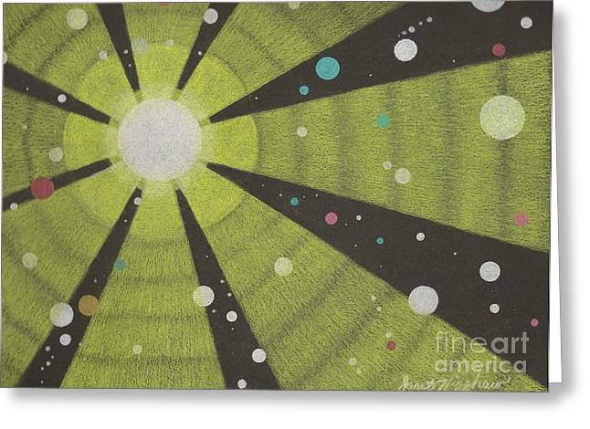 Drawn To The Sun Greeting Card by Janet Hinshaw
