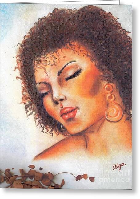 Greeting Card featuring the mixed media Dream by Alga Washington