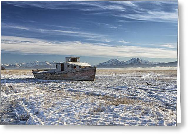 Drifter Pano Greeting Card by Ed Boudreau