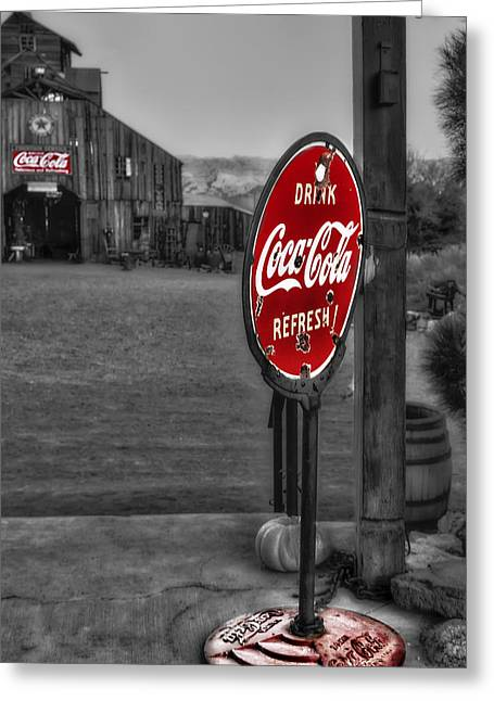 Drink Coca Cola Refresh Greeting Card