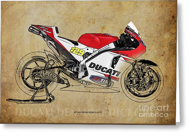 Ducati Desmosedici Gp15 Greeting Card by Pablo Franchi
