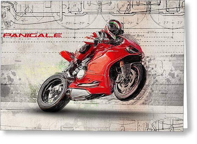 Ducati Panigale Greeting Card