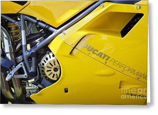 Ducati Performance Greeting Card by Tim Gainey