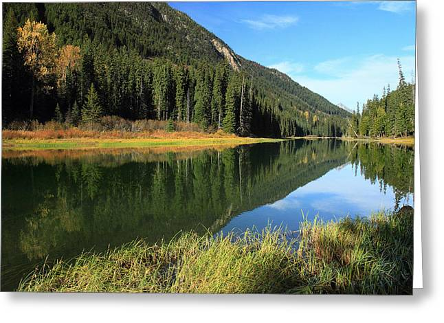 Duffey Lake Reflection In Autumn Greeting Card by Pierre Leclerc Photography