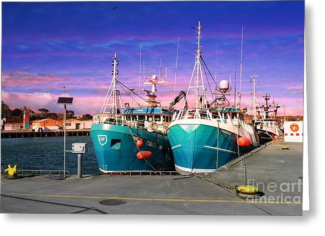 Dunmore East Harbour Greeting Card