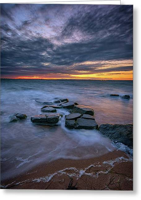 Dusk On Fire Island Greeting Card by Rick Berk