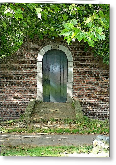 Sidewalks. Arches Greeting Cards - Dutch Door Digital Greeting Card by Carol Groenen
