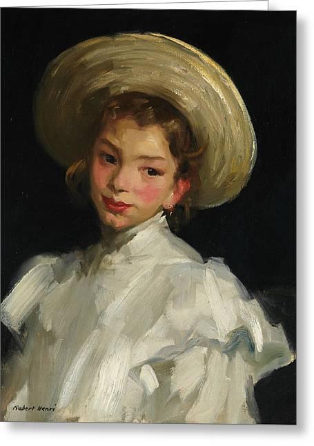 Dutch Girl In White Greeting Card