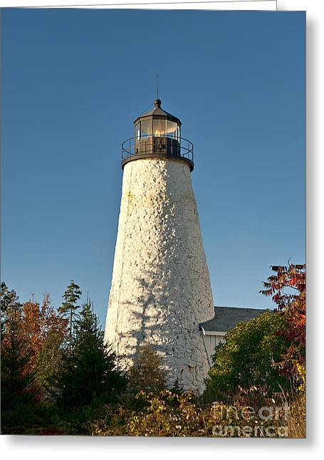 Dyce Head Lighthouse Greeting Card by John Greim