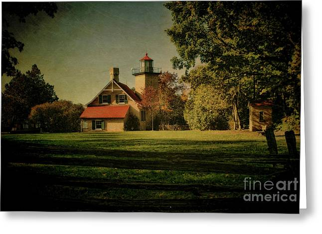 Eagle Bluff Lighthouse Greeting Card by Joel Witmeyer