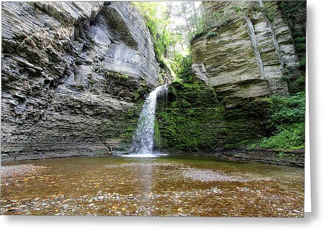 Eagle Cliff Falls In Ny Greeting Card