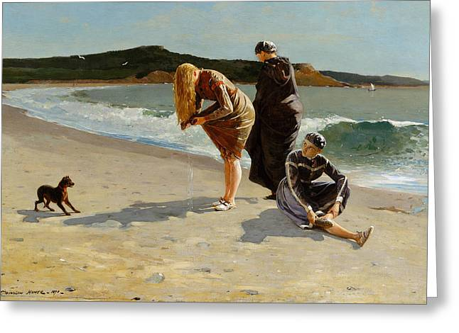 Eagle Head, Manchester, Massachusetts  High Tide Greeting Card by Winslow Homer