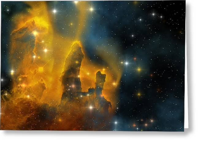 Eagle Nebula Greeting Cards - Eagle Nebula Greeting Card by Corey Ford