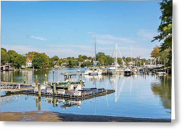 Early Fall Day On Spa Creek Greeting Card