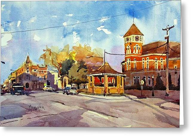 Early Morning Downtown Fairfield Greeting Card by Spencer Meagher