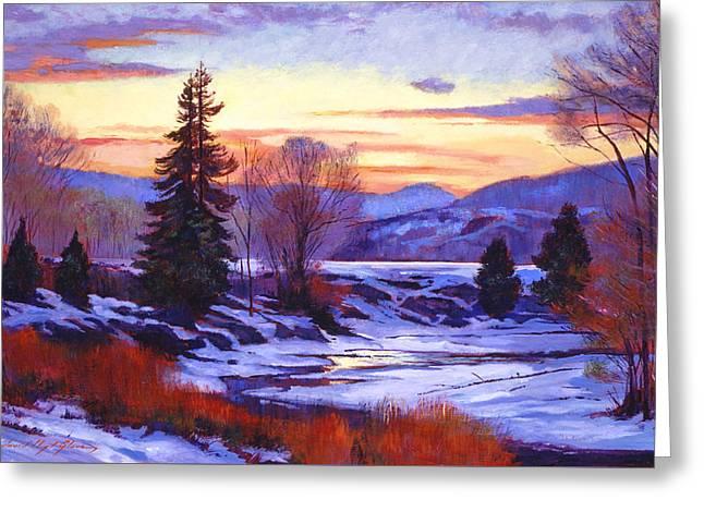 Early Spring Daybreak Greeting Card by David Lloyd Glover