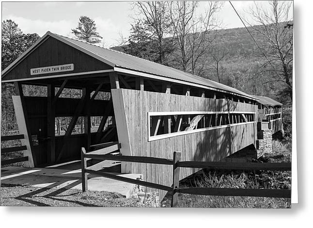 East And West Paden Twin Bridge Greeting Card