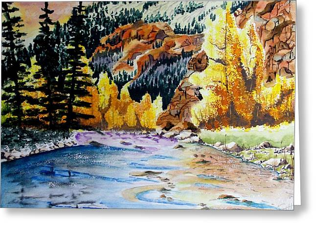 East Clear Creek Greeting Card by Jimmy Smith