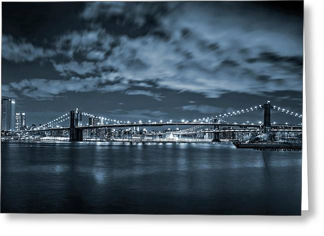 East River View Greeting Card by Az Jackson